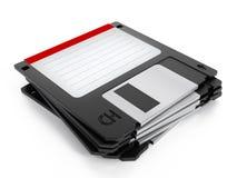 Floppy disk stack. On white background Stock Photos
