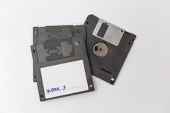 Floppy disk su fondo bianco Fotografia Stock