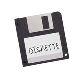 Floppy Disk - Tachnology from the past, isolated on white Royalty Free Stock Photography