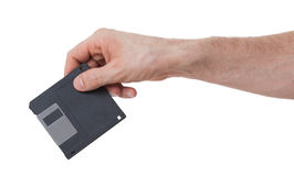 Floppy Disk - Tachnology from the past, isolated on white Stock Photos