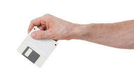 Floppy Disk - Tachnology from the past, isolated on white Royalty Free Stock Image