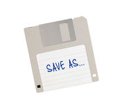 Floppy Disk - Tachnology from the past, isolated on white Royalty Free Stock Photo