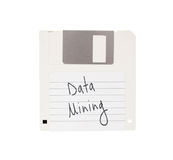 Floppy Disk - Tachnology from the past, isolated on white Royalty Free Stock Photos