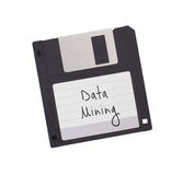 Floppy Disk - Tachnology from the past, isolated on white Royalty Free Stock Images