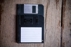 Floppy Disk. On Wood Backgrounds Royalty Free Stock Photography