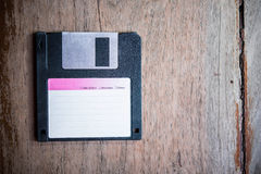 Floppy Disk. On Wood backgrounds Stock Photography