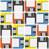 Floppy diskette vector pattern Royalty Free Stock Images