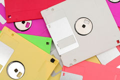 Floppy disks. Colorful floppy disks for background use royalty free stock photos