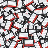 Floppy disks. Background with many  floppy disks. Eps10 layered  file Stock Photos