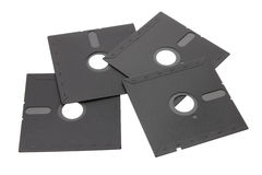 Floppy Disks. On White Background stock images