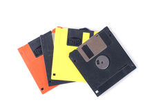 Floppy disks. Isolated on white background royalty free stock images