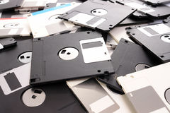 Floppy disks. Background of pile of floppy disks stock image
