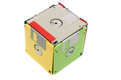 Floppy disks form cube Royalty Free Stock Image