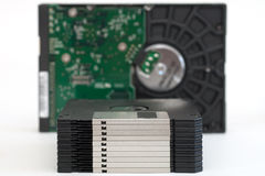 Floppy Disks and Hard Drive Royalty Free Stock Photos