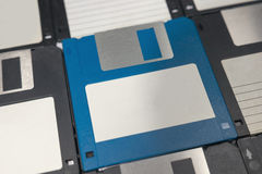 Floppy Disks magnetic computer data storage. Stock Photos