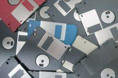 Floppy Disks magnetic computer data storage. Stock Image
