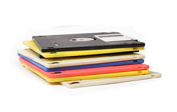 Floppy disks pile Royalty Free Stock Image
