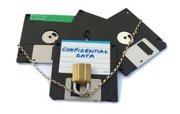 Floppy disks - secured Royalty Free Stock Images