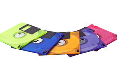 Floppy Disks Spread Royalty Free Stock Photography