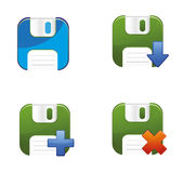 Floppy Disks Vector Set Royalty Free Stock Photography