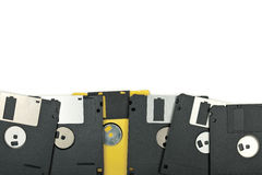 Floppy disks on white background Royalty Free Stock Images