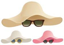 Floppy hat sunglasses Stock Photo