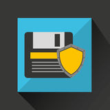 Floppy security system technology shield Royalty Free Stock Photography