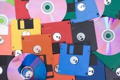 Floppy- und Digitalschallplatte Lizenzfreies Stockbild