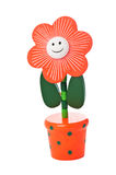 Floppy Wooden Flower Toy in a pot Stock Photography