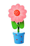 Floppy Wooden Flower Toy in a pot Royalty Free Stock Photography