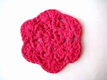 A flor é rosa feito malha, Imagens de Stock Royalty Free