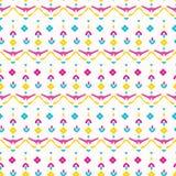 Flor étnica do verão brilhante para florescer teste padrão sem emenda do vetor Laço estilizado do boho floral por todo o lado na  ilustração royalty free