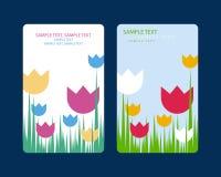 Flor 1 de la tarjeta de felicitación Foto de archivo