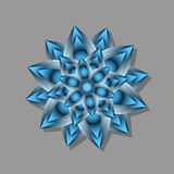 Flor abstracta azul Ilustración del Vector