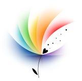 Flor abstracta del arco iris Fotografía de archivo