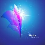 Flor abstracta del fondo y del vector Foto de archivo libre de regalías