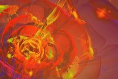 Flor abstracta del fractal Imágenes de archivo libres de regalías