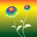 Flor abstracta del vector Imagen de archivo libre de regalías