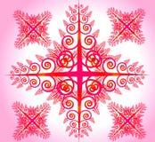 Flor abstracta rosada Stock de ilustración