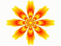Flor abstrata alaranjada A imagem do vetor Fotos de Stock