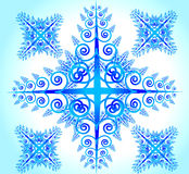 Flor abstrata azul ilustração stock