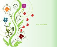 Flor abstrata da mola para o projeto ilustração royalty free