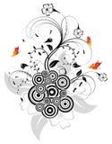 Flor abstrata da silhueta ilustração do vetor