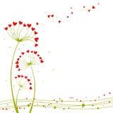 Flor abstrata do amor da primavera ilustração royalty free