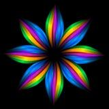 Flor abstrata do arco-íris ilustração royalty free