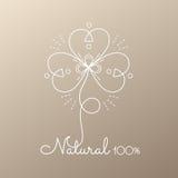 Flor abstrata do logotipo ilustração stock