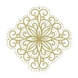 Flor abstrata do ouro ilustração royalty free