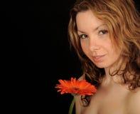 Flor adolescente de la explotación agrícola de la muchacha Imagenes de archivo