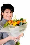 Flor adolescente de la tarjeta del día de San Valentín Fotos de archivo libres de regalías