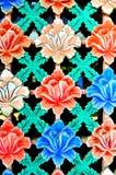 Flor agradable que talla en la pared Fotografía de archivo libre de regalías